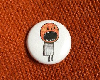 Pumpkin Person - Pin