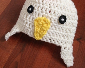Chicken Hat and Diaper Cover, Chicken Costume, Chick, Little Chicken, Newborn, 0-3 month, costume