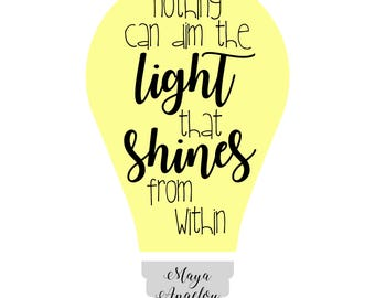 the light that shines from within PRINTABLE Digital Download art print
