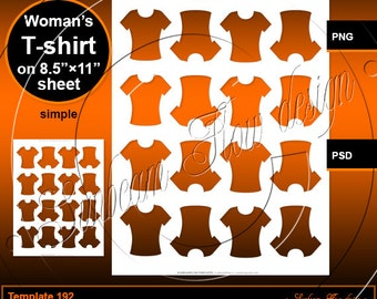 INSTANT DOWNLOAD - Woman's T-shirts TEMPLATE 192 sexy Printable Sport Shape Pendant Glass Resin Sticker Print Your Own commercial use ok pyo
