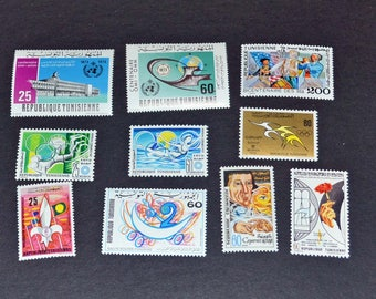 Tunisia 16 mint stamps Modern