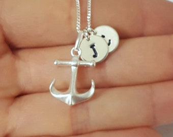 Anchor Necklace, Sterling Silver, Nautical Necklace, Sailor Gift, Birthday Gift, Children's Jewelry, Kids Jewelry
