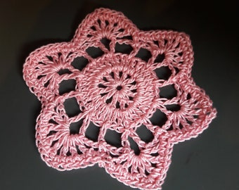 small crocheted doilies
