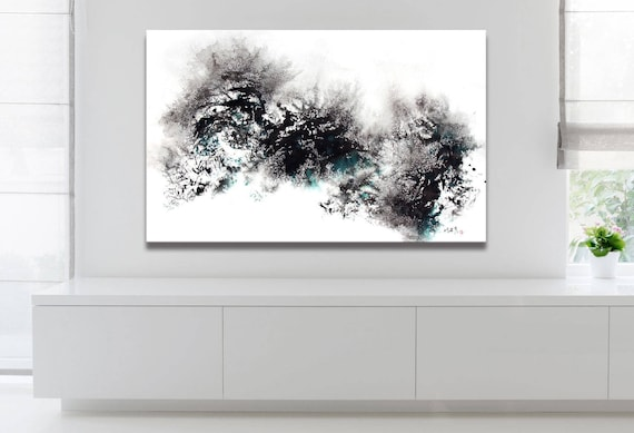 WINTER SERIES   #3008, Abstract Snow Painting, Artist-Signed, Giclee Fine Art Print, Contemporary Art, Acrylic, Wall Art, 10x16 - 36x60