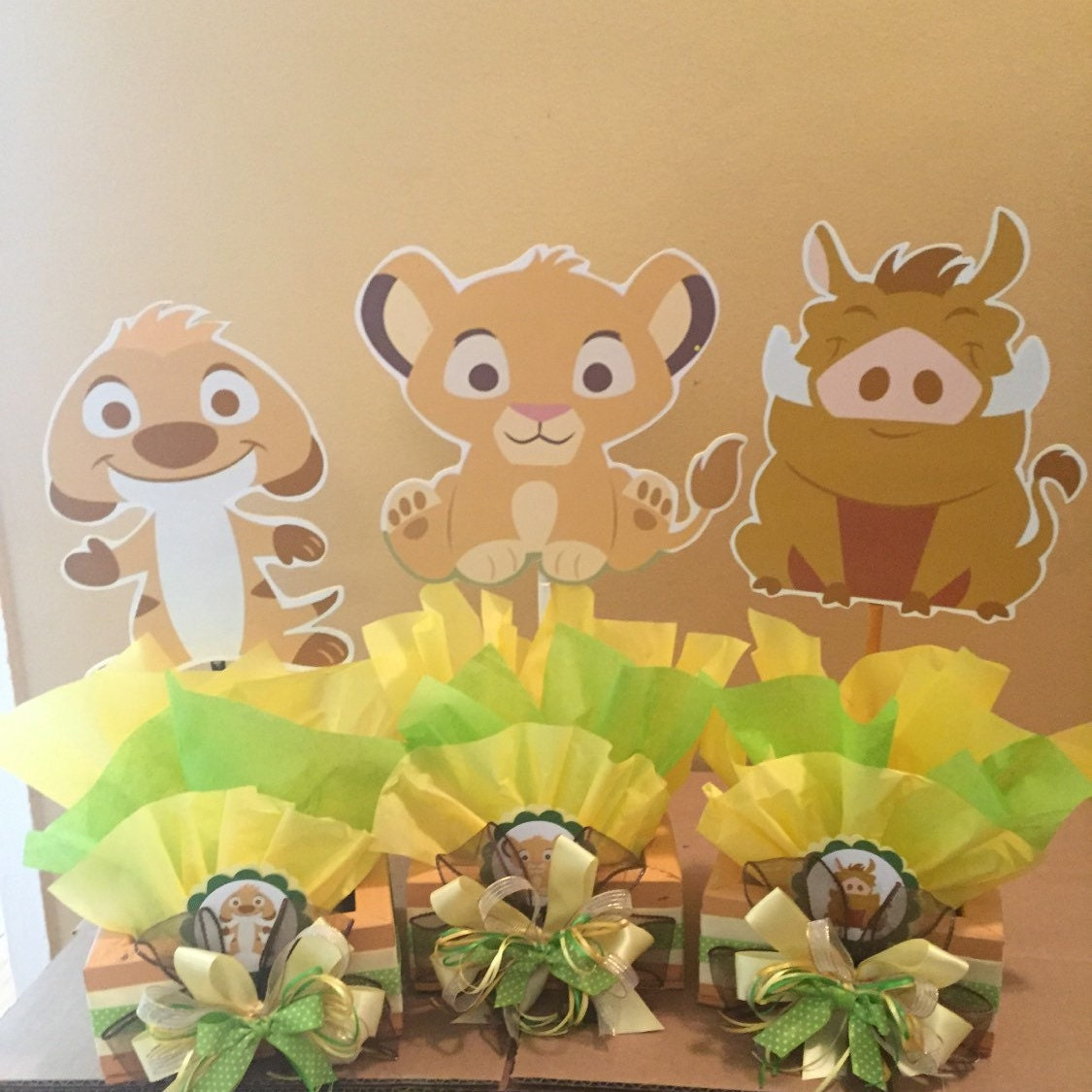 Lion Baby Shower Ideas: Baby Lion King Inspired Centerpiece Simba Pumba Nala Timon