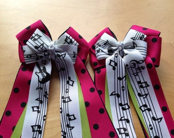 Horse Show Bows - Musical Notes
