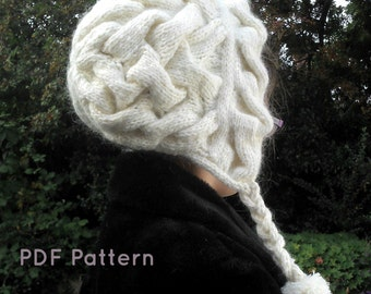Winterwonderland Hood / Hat PDF Knitting Pattern