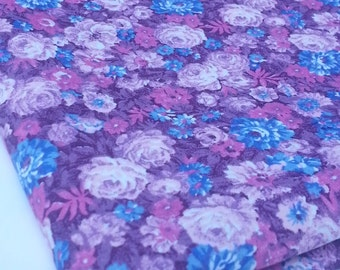Pink and Purple Floral Peter Pan Fabrics (1 1/4 Yards)
