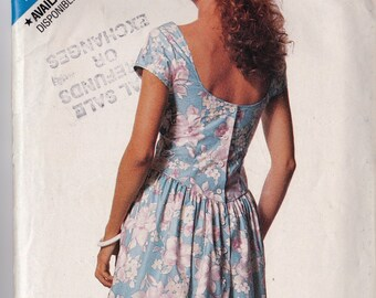 See & Sew 6394 CLEARANCE Vintage Pattern Womens Dress and Petticoat Size 6,8,10,12,14