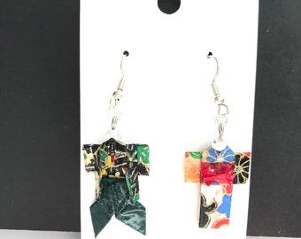 ORIGAMI KIMONO earrings.