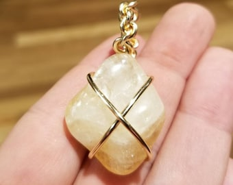 Wire wrapped Citrine pendant