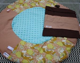 Travel Play Mat pastel fox girl print baby tummy time baby shower gift