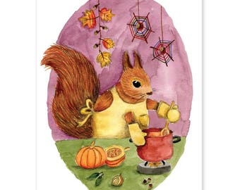 Animal Friends • Squirrel makes pumpkin soup