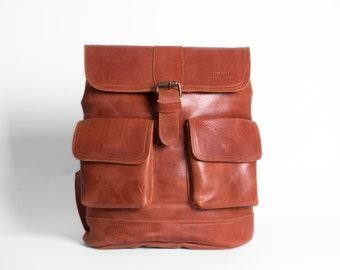 Stella Leather Backpack Handmade Woman