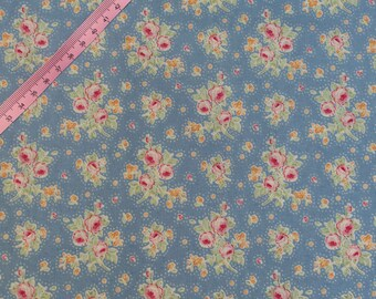 Tilda First Kiss Blue Fabric / Circus Collection - Half Metre/0.54yard