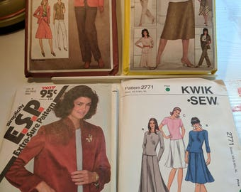 1980's Ladies Business Clothing Sewing Patterns Bundle