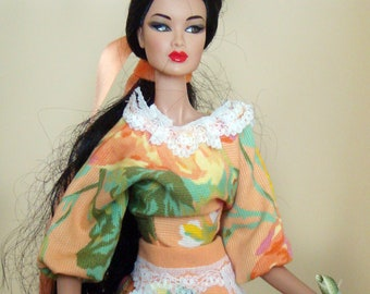 BARBIE MARIA clothes, outfit, silkstone barbie doll or other 30 cm