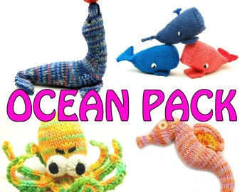 Ocean Pack Sea Creature Patterns Instant PDF Downloads