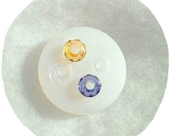 Mold for facet bead, mold European bead faceted