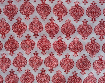 5 yard Hand block fabric ,Cotton Fabric ,Soft Cotton ,Block Print , Hand Made Fabric ,Indian Fabric