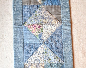 Shades of Blue Quilted Table Runner
