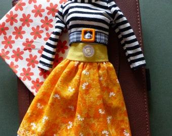 "Blythe Skirt Set ""Fields Of Gold"" - Full Folksy Skirt, Blouse And Head Scarf"