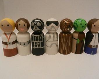 Star Wars Inspired Peg People