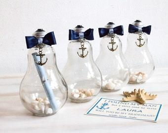 Secret Message in a Bottle Beach wedding card in bottle