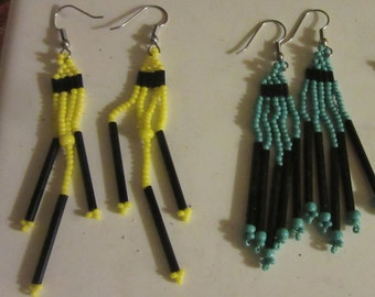 earrings beaded or necklace