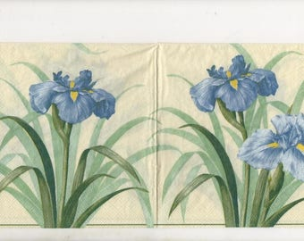 3271 lot 3 branch blue iris paper napkins