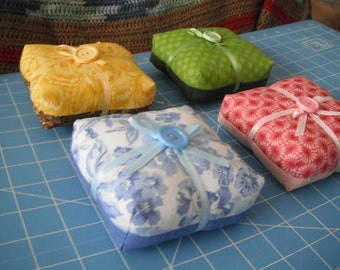 Square Pin Cushions / Thick and Chunky / Pastel Pin Cushions