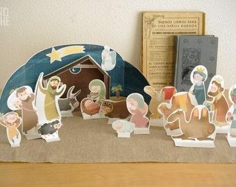 Nativity Scene - Nativity set  - Christmas printable