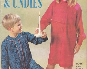 Enid Gilchrist - Sleepwear & Undies Simple Sewing Designs - for Boys and Girls - Vintage 1970s - Aged 1 to 10 years