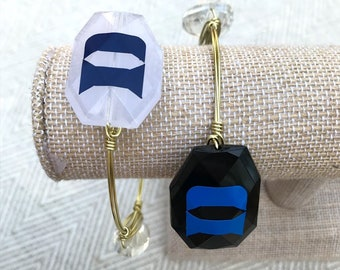 Duke Blue Devils Wire-Wrapped Bangle Bracelet