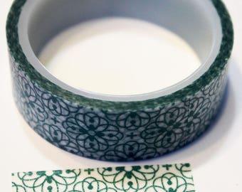Turquoise Flower Washi Tape
