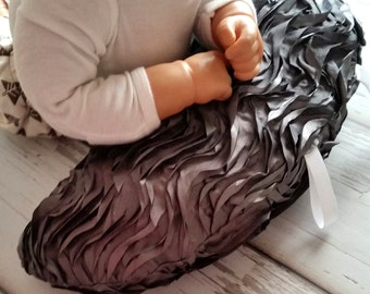 Organic Tummy Time Pillow, Ruffles