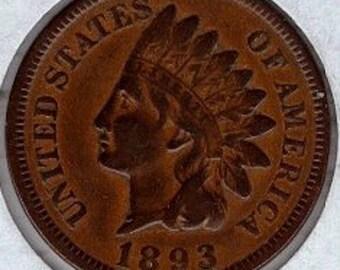 Indian Head penny 1893 (I93)