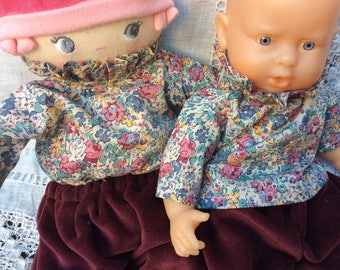 Doll clothes blouse Claire Aude Liberty doll 30 cm