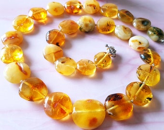 Butterscotch Amber Necklace Natural Baltic Amber