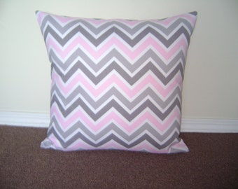 SALE, Chevron Pillow Cover,  18''x18'' Girl's Pillow Cover, Decorative Pillow Cover