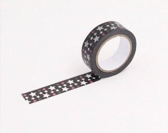 Washi tape 10 m stars - Washi tape with stars