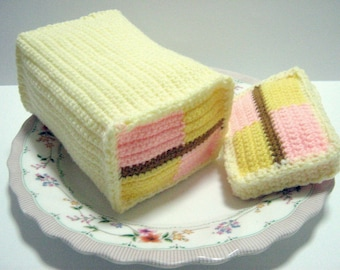 Cake Crochet Pattern Crochet Pastries Pattern Food Crochet Pattern PDF Instant Download Rectangular Cake