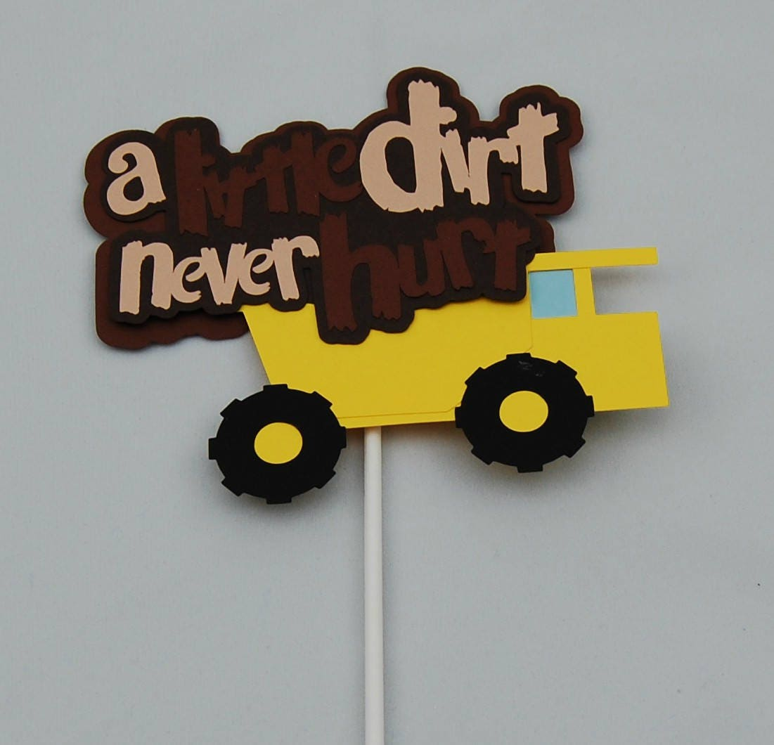 Construction Truck Birthday Party Cake Topper Dump Truck