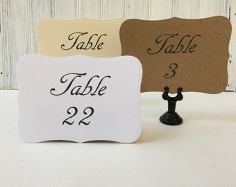 Wedding Table Numbers - Wedding Table Cards - Table Numbers - Country Wedding Table Numbers