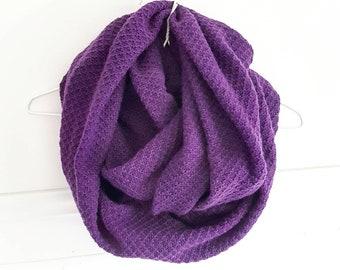 Purple ANNETTE #21 / scarf / infinity