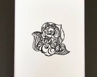 "SNAIL marker drawing (with mat) original design 11*14"""