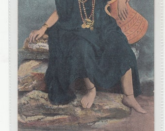Egypt -Native Woman Old Postcard By The Cairo Trust
