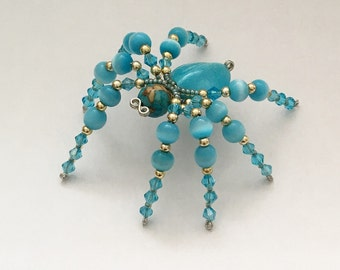 Beaded Spider - Turquois