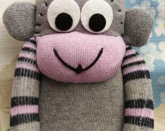 Sock Monkey (Purple & Grey)