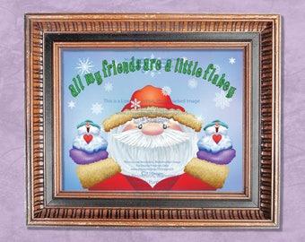 Santa and his Snowmen Printable